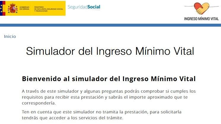 Simulador del Ingreso Minimo Vital: que es y como usarlo en la web de...