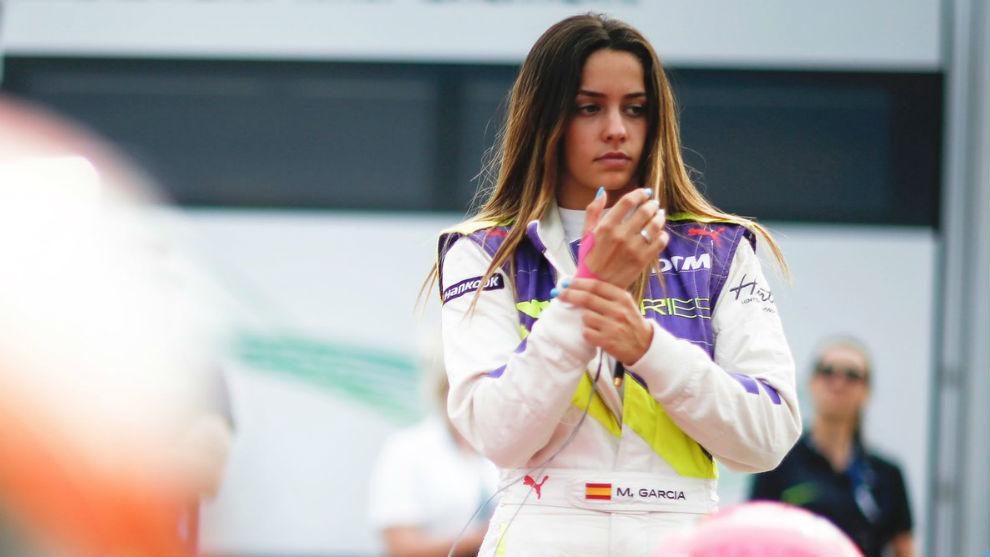 Marta García (20 años), durante la prueba de Assen en las W Series...