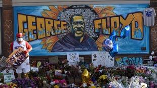 Homenaje a George Floyd en Mineapolis