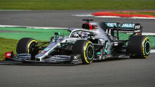 Hamilton, en la presentación del W11 el pasado 14 de febrero en...