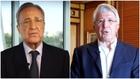 Florentino Pérez y Enrique Cerezo, presidentes del Real Madrid y...