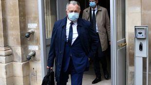 Jean-Michel Aulas, presidente del Lyon, en los juzgados este jueves.