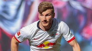 Werner en un duelo con el Leipzig.