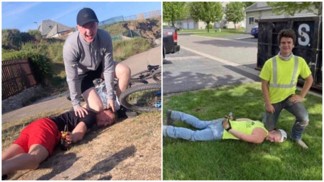 The 'George Floyd Challenge' sparks worldwide outrage
