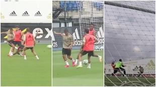 Hazard llega más fino que nunca: recital de detalles en el entreno