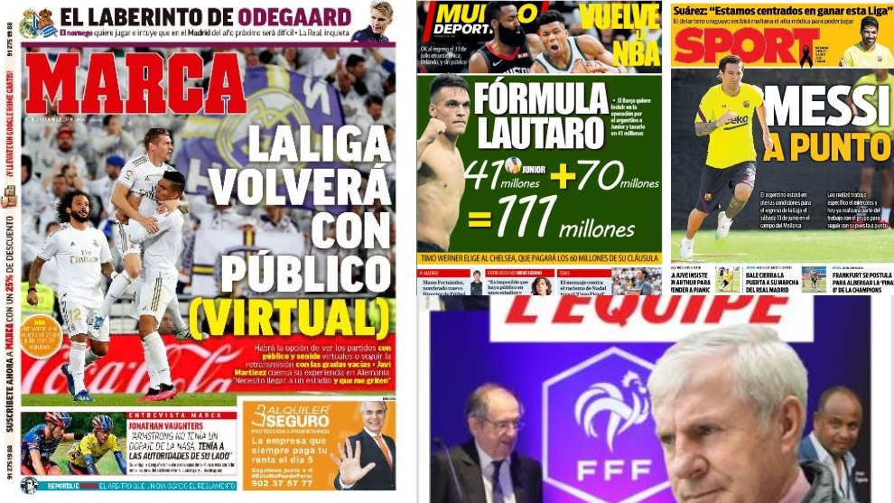 Friday's front pages have an Argentine flavour with focus on Messi, Lautaro and Higuain