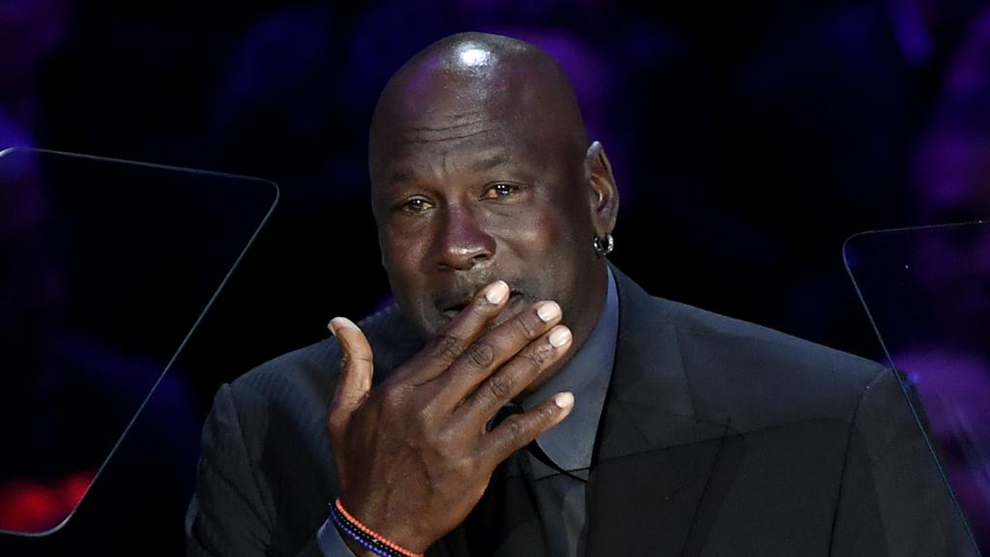 Michael Jordan, emocionado en su alocución tras la muerte de Kobe...