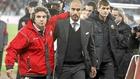 Juanma Lillo y Pep Guardiola durante un partido con el Almería