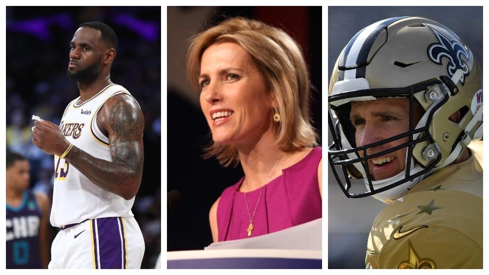 La controvertida comparación de Laura Ingraham entre LeBron James y Drew Brees