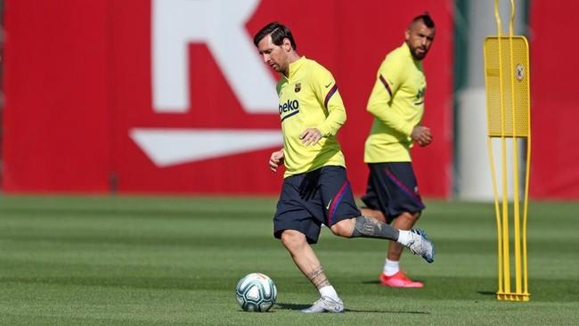 Messi, en un entrenamiento en la Ciudad Deportiva del Barcelona.