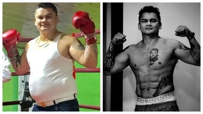 Maidana, antes y después de entrenarse para volver al ring.