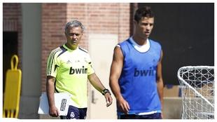Mourinho y Cristiano, en una pretemporada en Los Ängeles.
