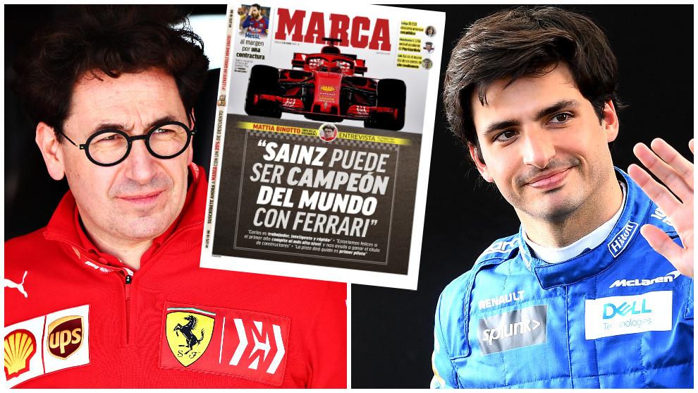 """Binotto: """"Sainz puede ser campeón del mundo con Ferrari"""""""