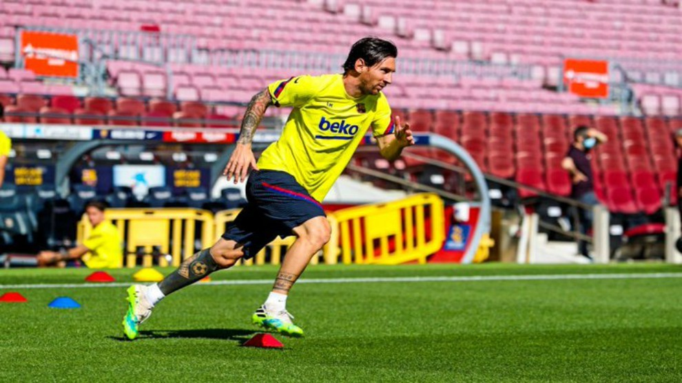 Messi misses training again with thigh injury