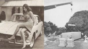 Enterrada dentro de su Ferrari: con Sandra West al volante y el asiento abatido