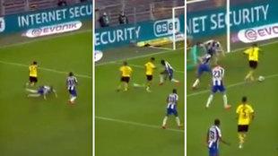 Jadon Sancho en 'modo Neymar': si llega a acabar con gol esa jugada...