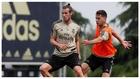 Bale, en un entrenamiento del Real Madrid en Valdebebas.