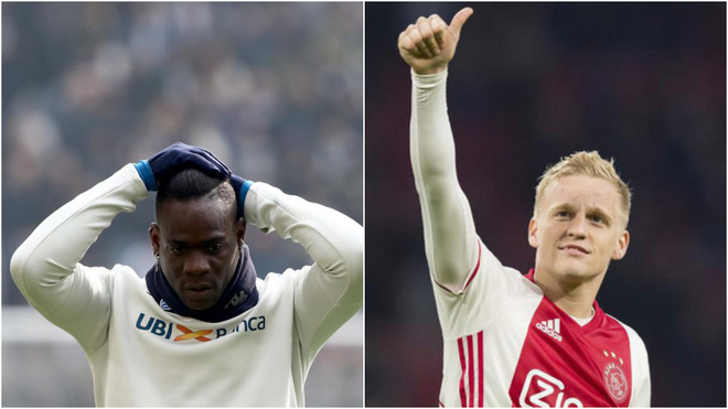 Sunday's transfer round-up: Balotelli released and fight over Van de Beek