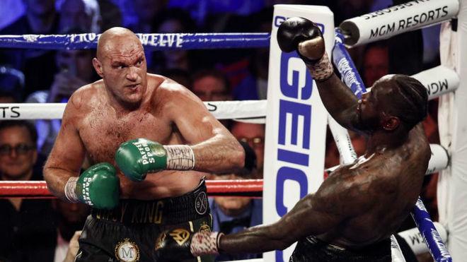 Fury y Wilder en el segundo combate entre ambos.