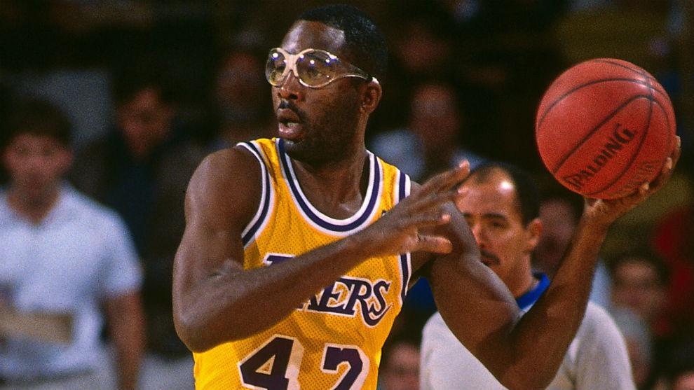 James Worthy, en su época de jugador de los Lakers