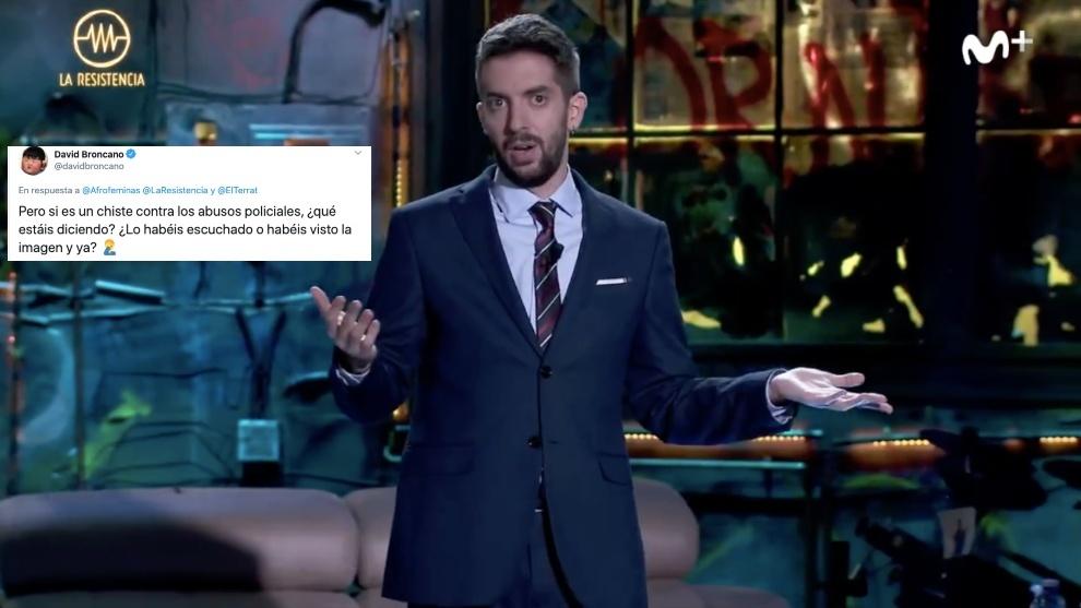 El presentador de La Resistencia David Broncano justificó su broma en...