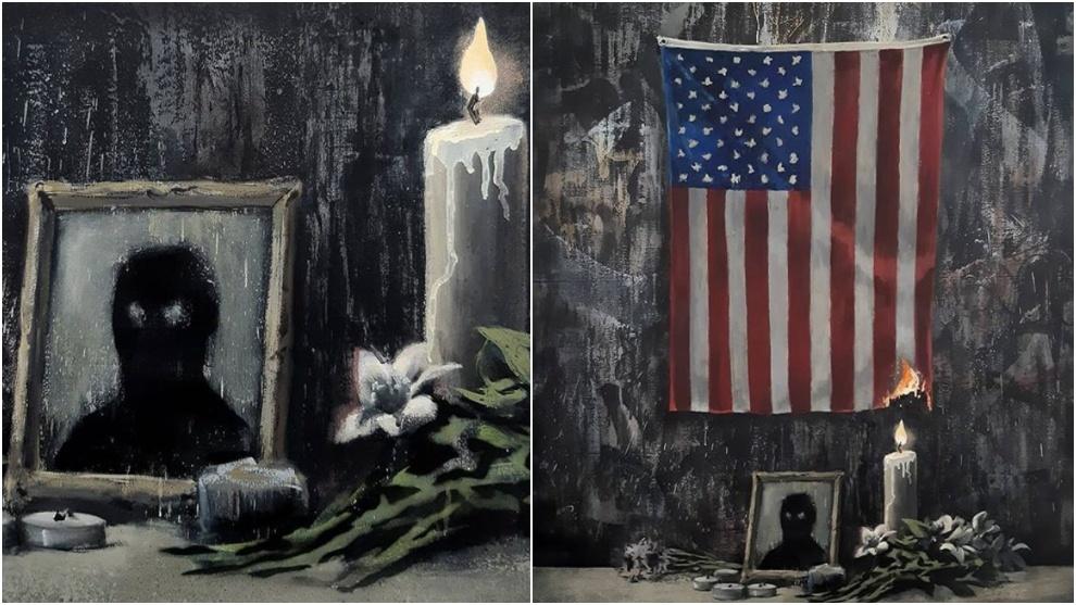 """Banksy dedica su última obra a George Floyd: """"El sistema le falla ..."""