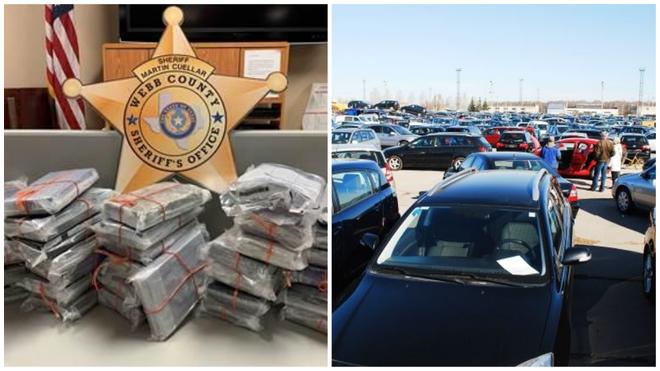 Los fardos encontrados por el departamento de policía del Condado de...