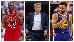 Michael Jordan, Steve Kerr y Stephen Curry.