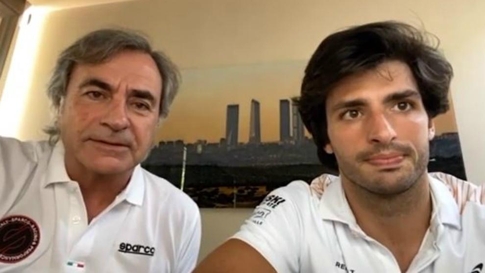 Los Sainz, durante la entrevista.