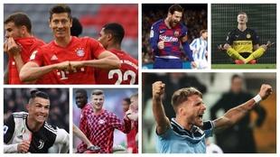 Lewandowski, Messi, Haaland, Cristiano, Werner e Immobile optan al...