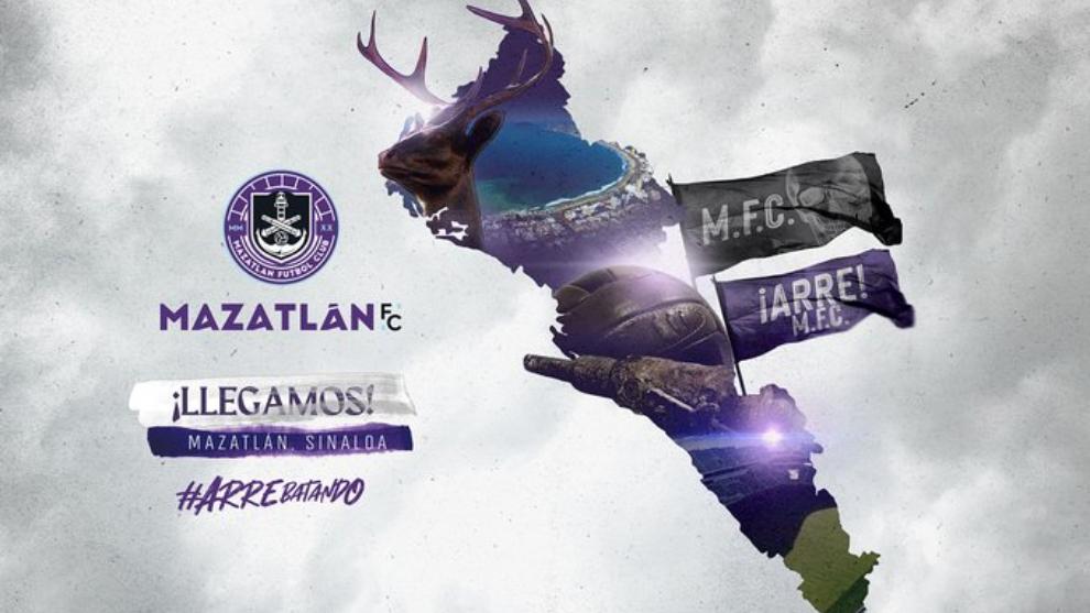 El Mazatlán FC presentó sus colores y escudo con los que...