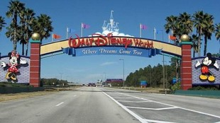 La entrada a Disney World en Orlando.