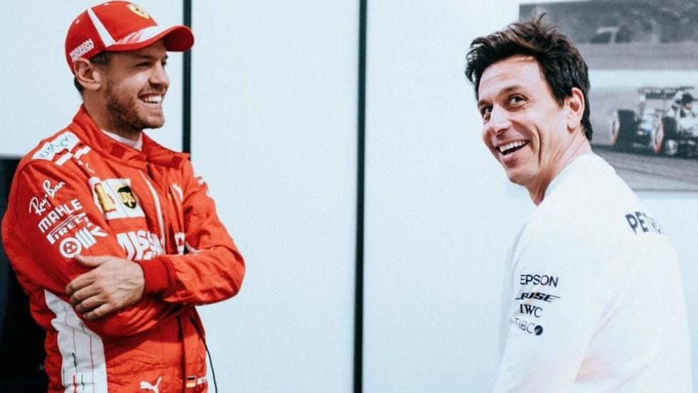 Vettel y Wolff.