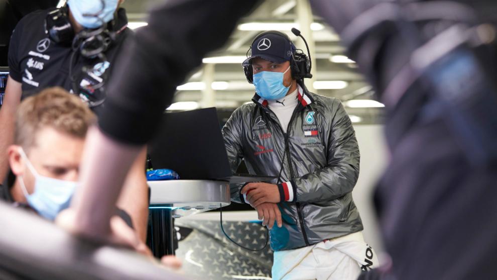 Valtteri Bottas, en Silverstone.