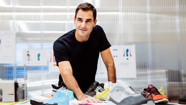 Roger Federer en un acto promocional tras convertirse en accionista de On Running