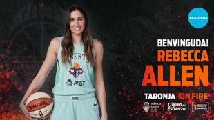 El Valencia Básket anunció así el fichaje de Rebecca Allen