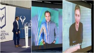 Nadal, Federer y Sharapova