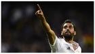 Arbeloa celebra el gol que le marcó al Almería en la temporada...