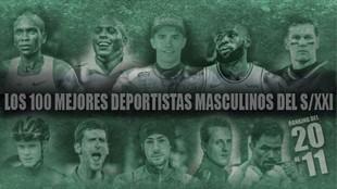 Del 20 al 11: Márquez, Djokovic, Brady, Kipchoge, Froome, LeBron, Ronaldo...
