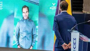Federer, en el acto de Nadal