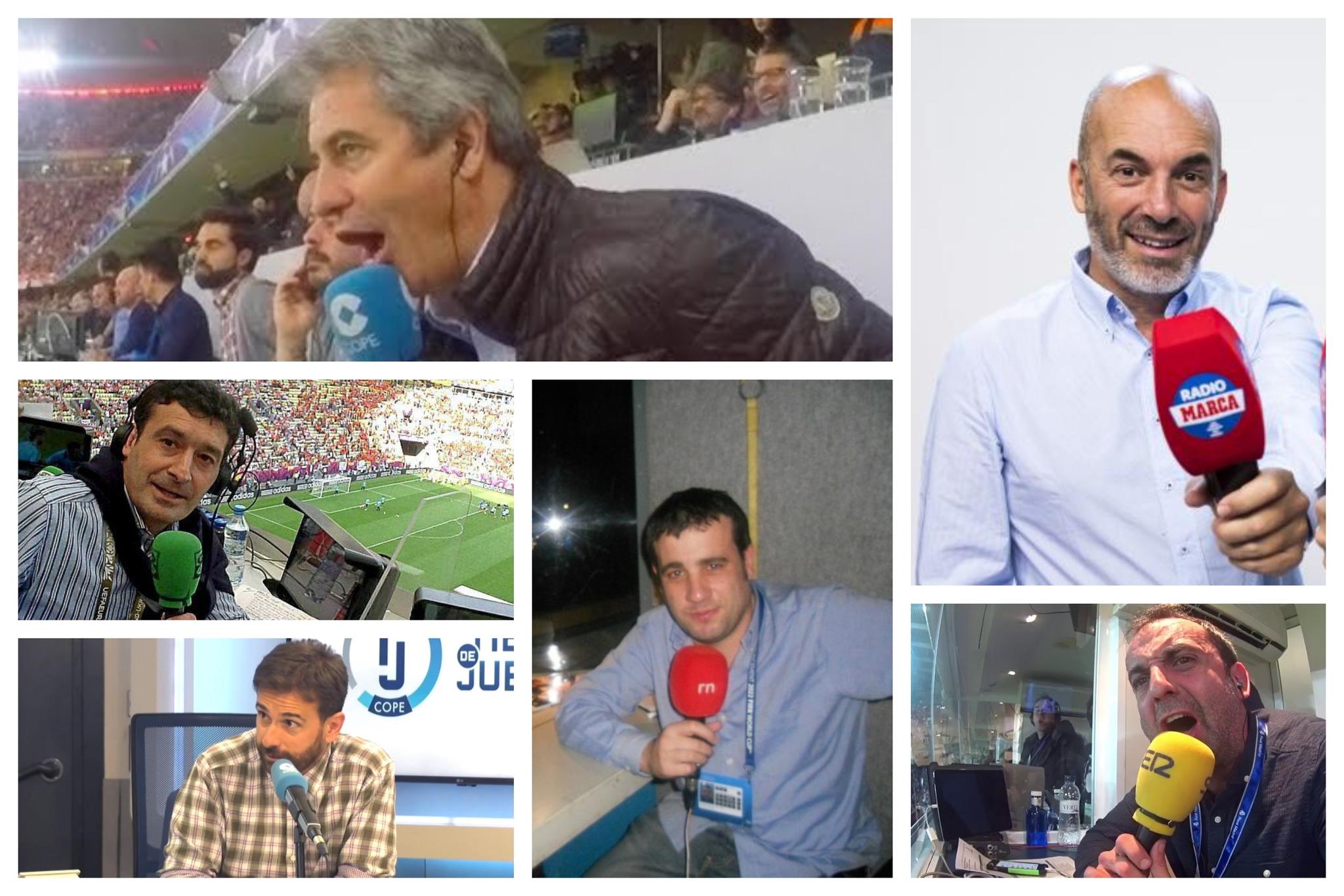 Liga de narradores: los secretos de Manolo Lama, Alfredo Martínez, Raúl Varela, Lluís Flaquer, Antonio Muelas y Rubén Martín