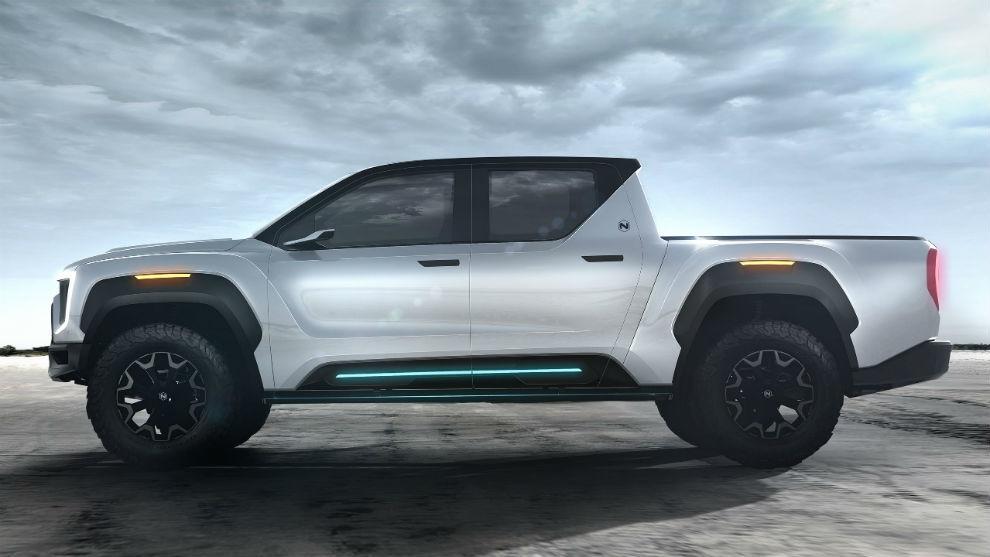 El Nikola Badger promete 965 km de autonomía, más que el Tesla Cybertruck.