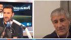Juanma Castaño y Quique Setién durante un momento de la entrevista