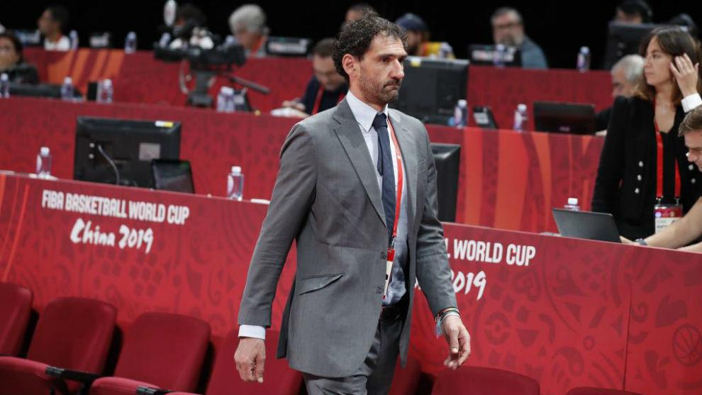 Jorge Garbajosa, en el pasado Mundial de China 2019.