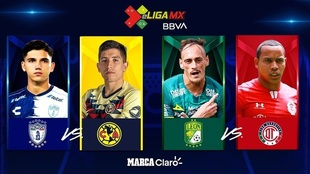 Los cuatro semifinalistas de la eLiga MX.