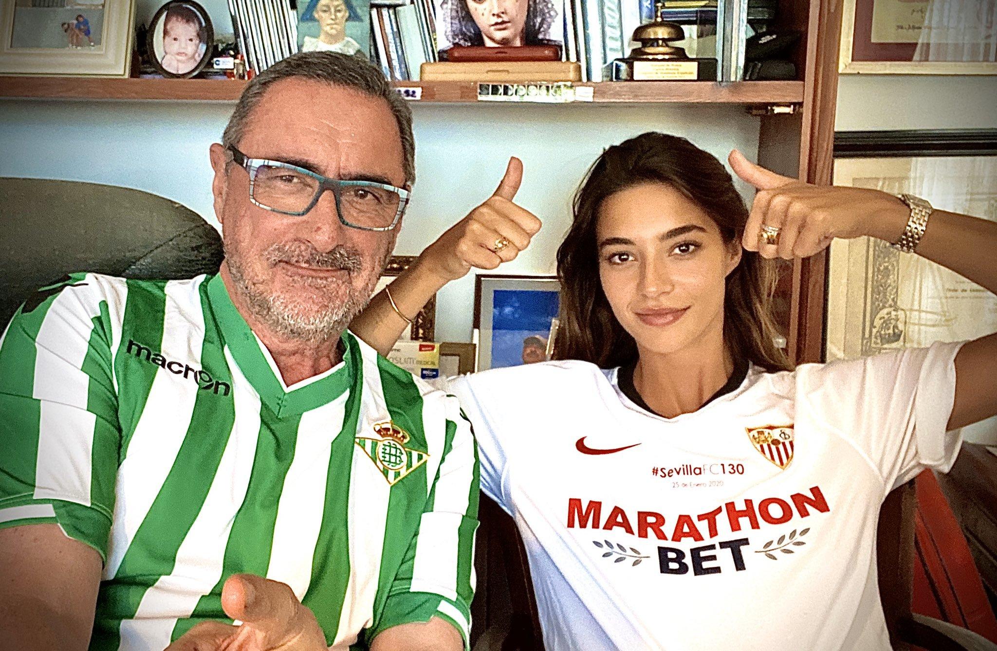 Carlos Herrera (Betis) y Rocío Crusset (Sevilla), el derbi sevillano...
