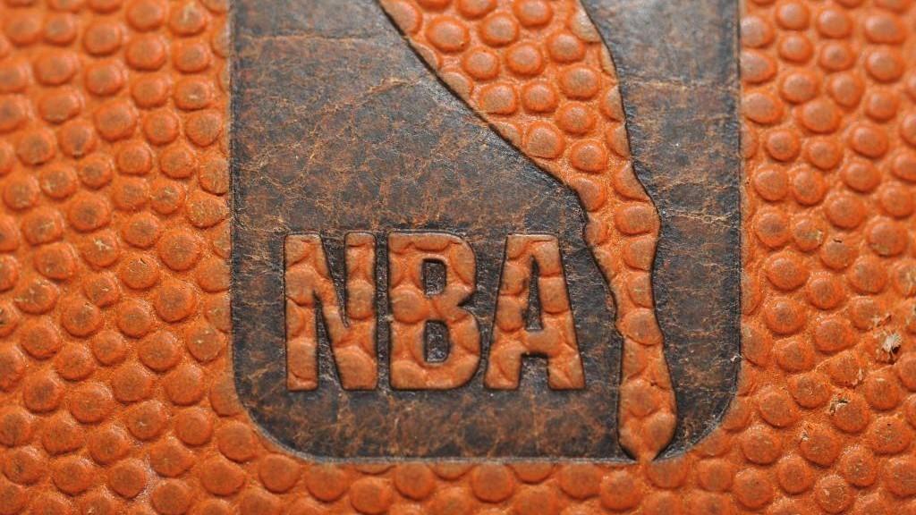 Un detalle de un balón de la NBA.