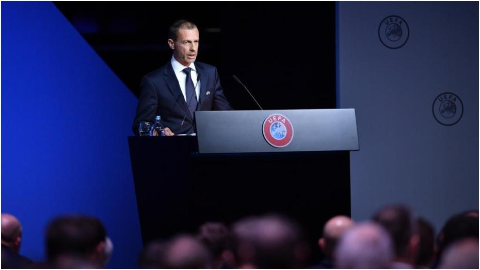 El presidente de UEFA, Alexander Ceferin.