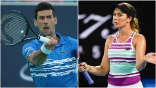 Djokovic y Collins, en acción