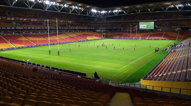 Un campo de rugby.